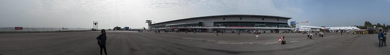 Singapore Airshow 2018 viewing area panorama