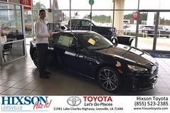 Happy Anniversary to  on your #Toyota #86 from Devin Buterbaugh at Hixson Toyota of Leesville!