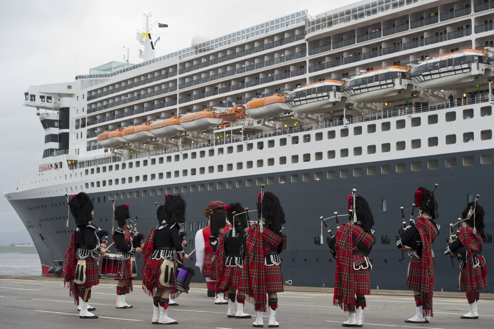 Queen Mary 2 arrives at Greenock, Scotland on May 20, 2015.