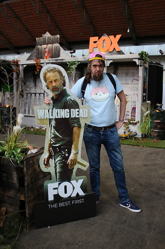Bert at the Walking Dead stand