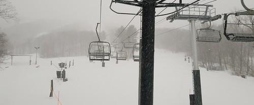 Snowy Chair Lift