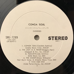 CANDIDO:CONGA SOUL(LABEL SIDE-A)