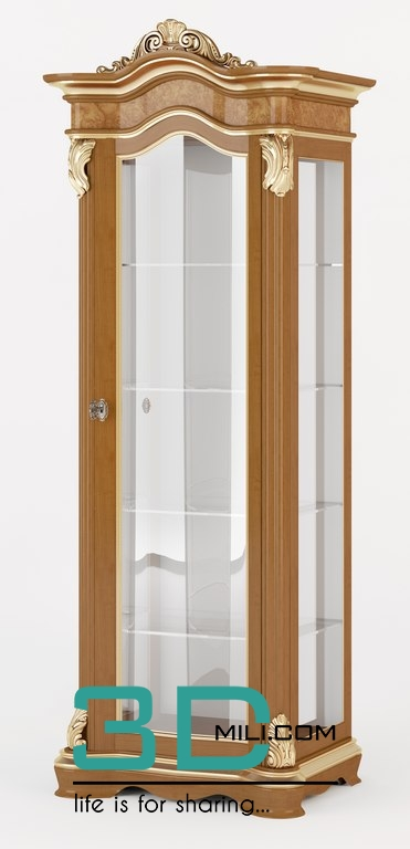 107  Glass cabinet - 3D Mili - Download 3D Model - Free 3D