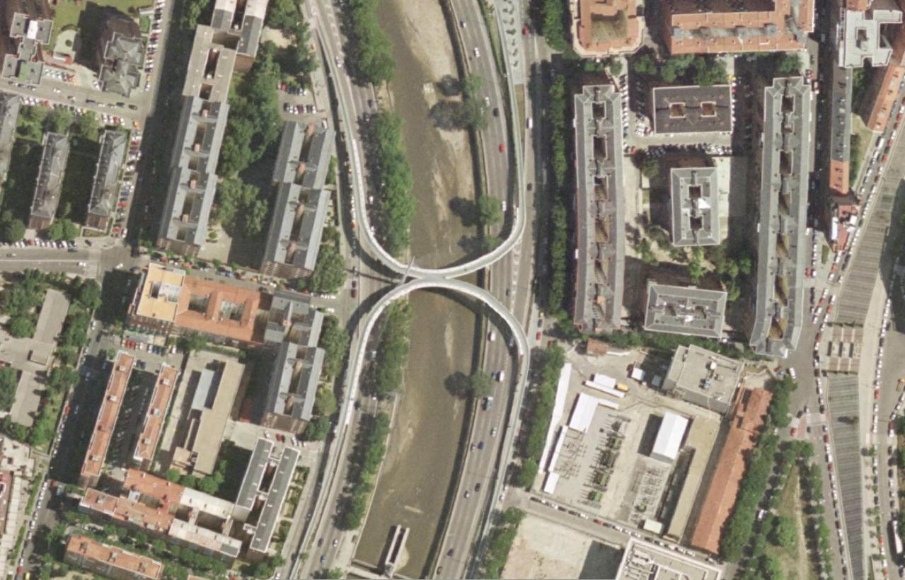 pasarela de manterola sobre la m-30, madrid, tres erres, antes, urbanismo, planeamiento, urbano, desastre, urbanístico, construcción