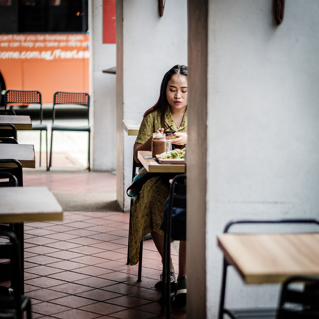 Lunch alone - Singapore