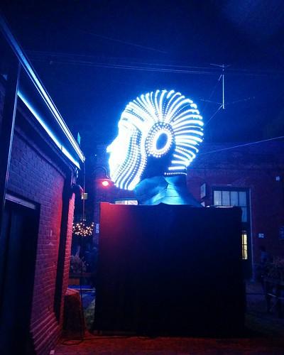 Talking Heads (4) #toronto #tolightfest #distillerydistrict #talkingheads #victorvicsek #latergram
