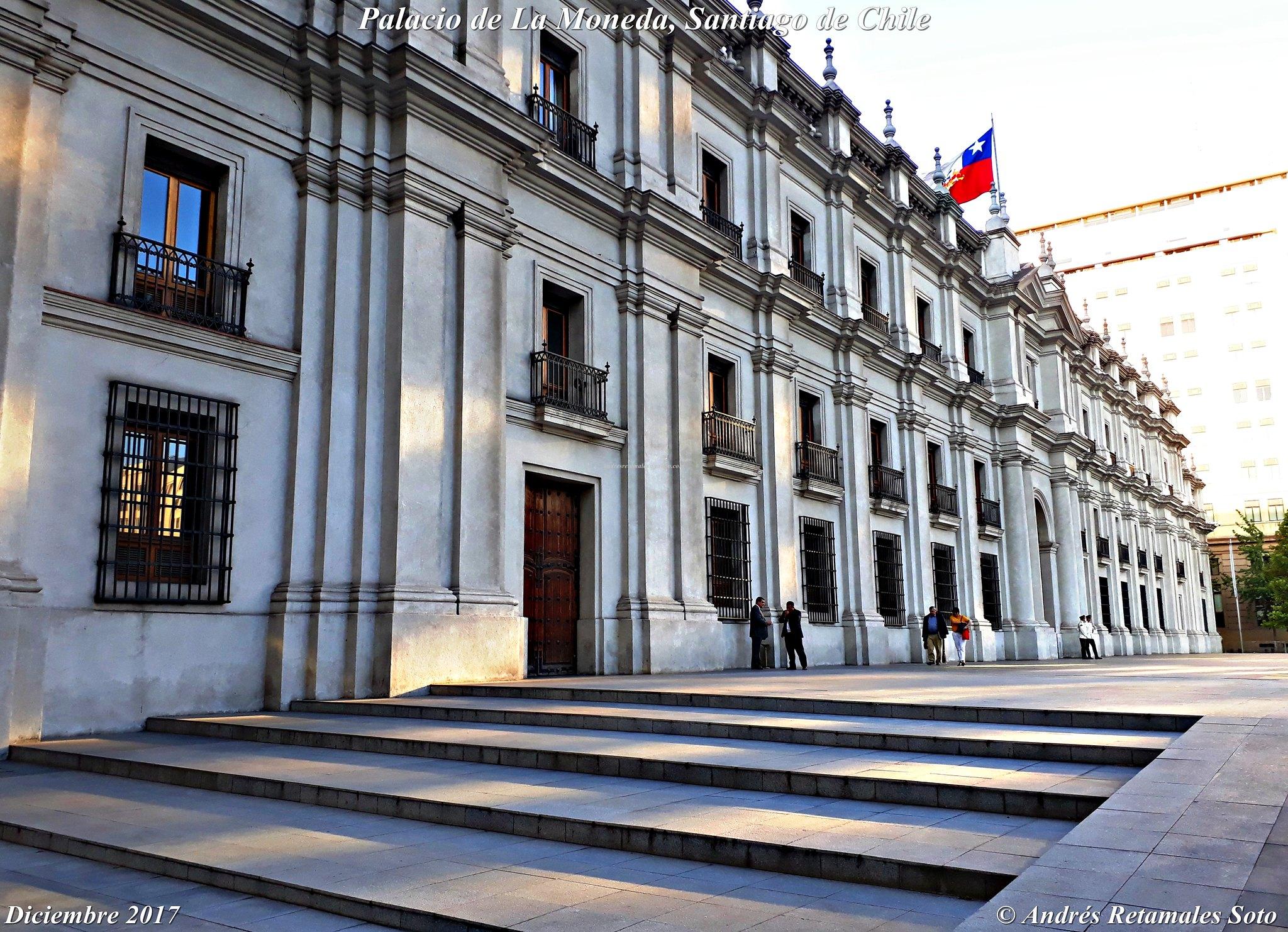 Palacio de La Moneda, Santiago de Chile, diciembre 2017