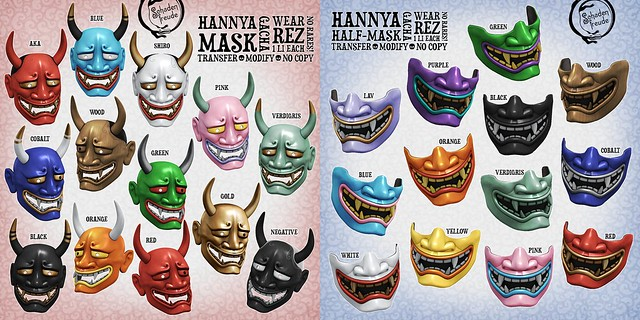 hannya mask keys
