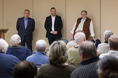 Rep. Joe Polletta, Rep. Dave Wilson and State Senator Eric Berthel held an open Q&A session at the Woodbury Senior Center to discuss the upcoming 2018 legislative session.