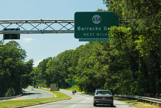 US29/250 Bypass - VA654 Sign - Barracks Road