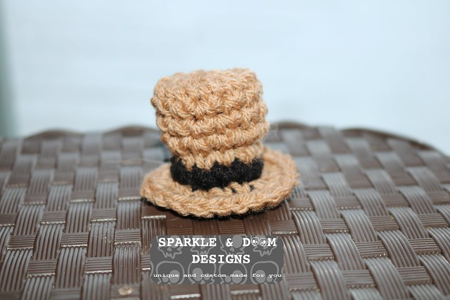 PET HAT mini top hat brown steampunk a
