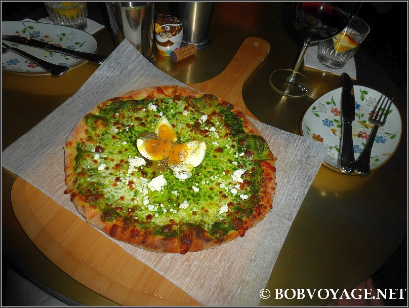 פיצה ירוקה ב- קוקו במבינו (CoCo BamBino)