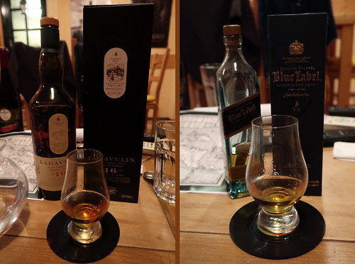 Lagavulin (Islay) und Johnnie Walker Blue Label (als Special)