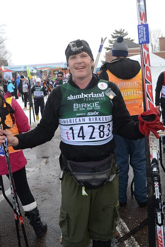 After the Birkebeiner cross-country ski Marathon in Hayward, Wisconsin. Photographer Ted Nelson