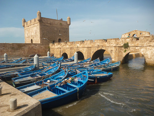 The blue fishing boats