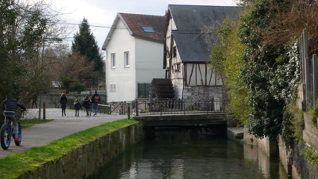Rouen - Moulins au bord du Robec