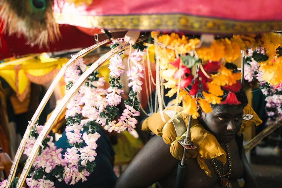 A boy in Thaipusam