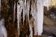 Eiszapfen am Nohner Wasserfall