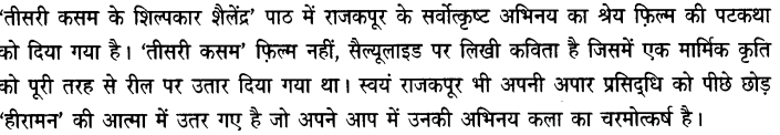 Chapter Wise Important Questions CBSE Class 10 Hindi B - तीसरी कसम के शिल्पकार शैलेंद्र 6a