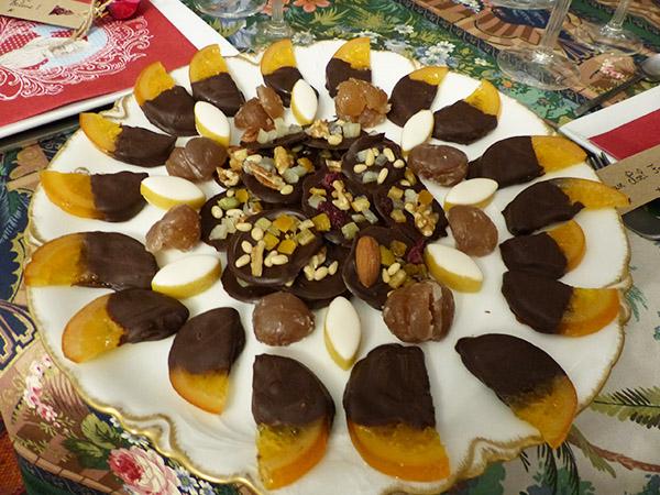 assiette de chocolats