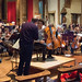 02 DSCN0016c Sheku Kanneh-Mason rehearsing the Elgar Cello Concert with Ealing Symphony Orchestra. Leader Peter Nall. Conductor John Gibbons 3rd March 2018 (Photo Lucy Robinson)