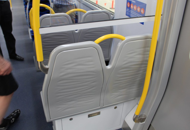 New metro trains: seat backs