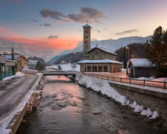 Sunrise in St Moritz, Switzerland
