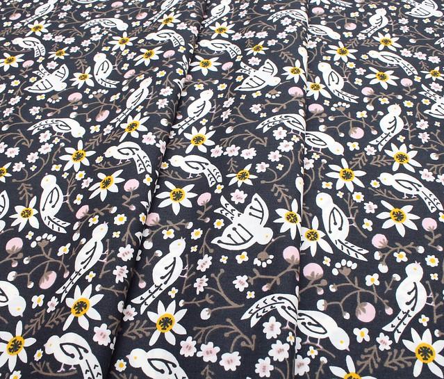 Birch Fabrics Folkland Sweet Tweet in Dusk