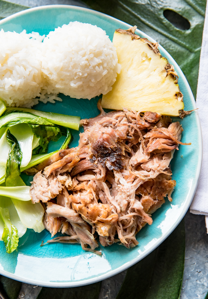 Hawaiian Style Slow Cooker Kalua Pork - Pineapple and Coconut