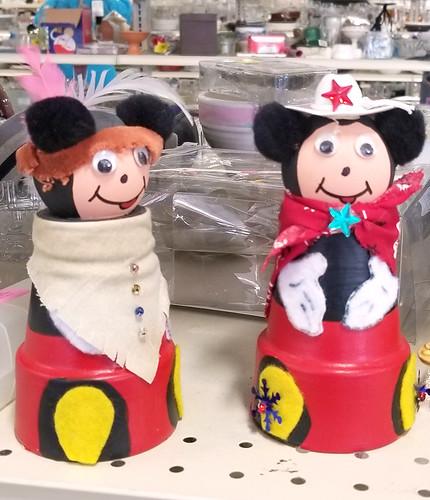 mickey minnie flowerpot western