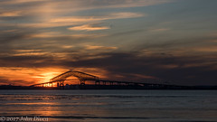 Francis Scott Key Bridge at Sunset