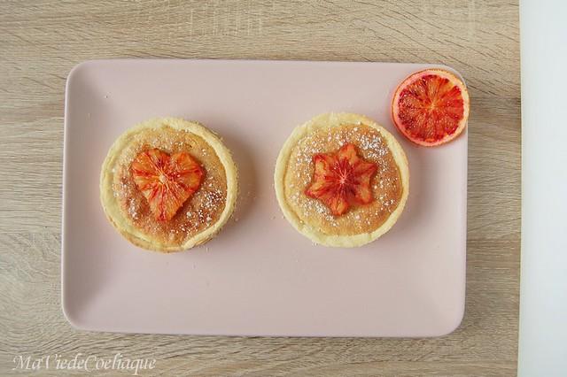 tartelette à l'orange sanguine sans gluten sans lactose