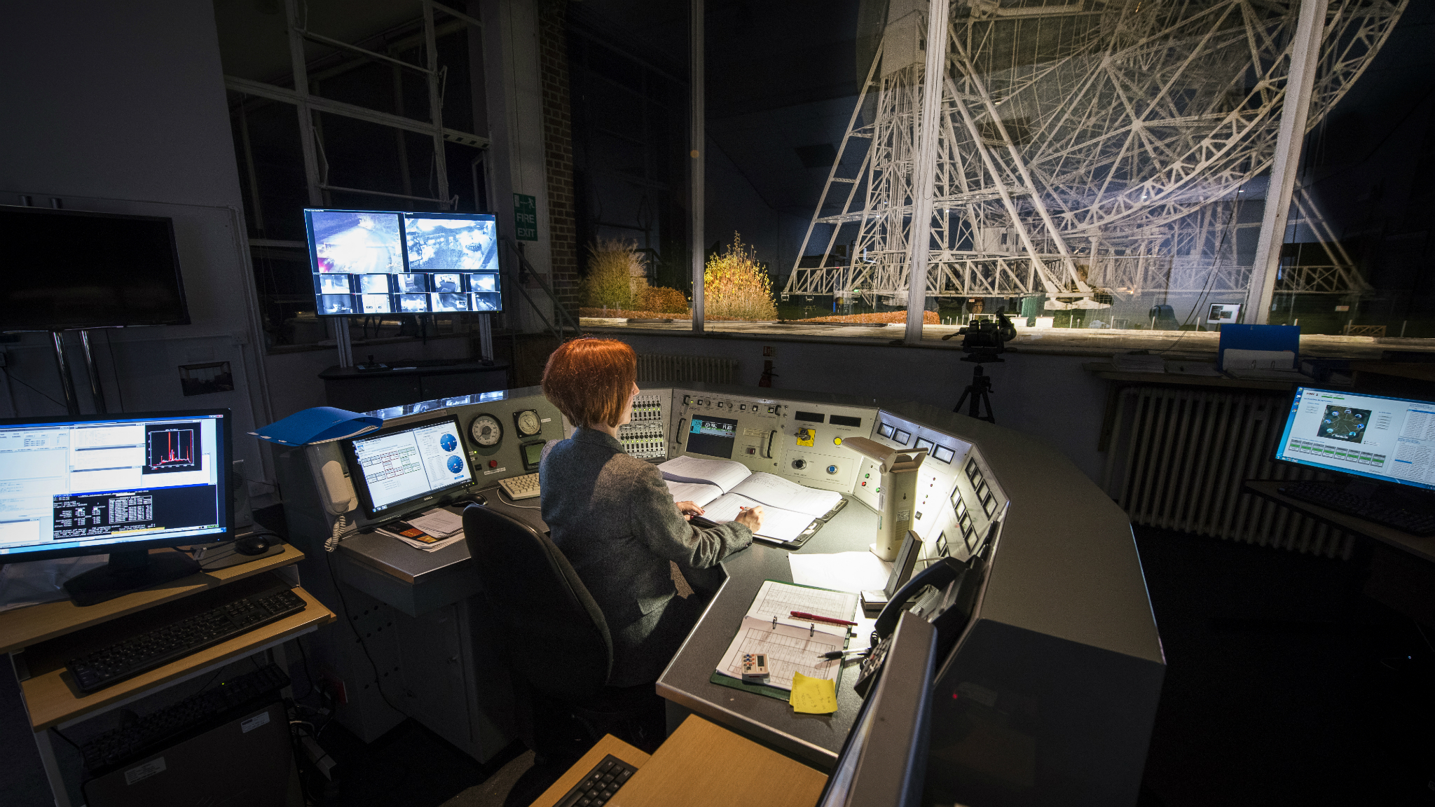 Prof Carole Mundell at the Jodrell Bank Observatory where she studied her PhD.