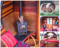 A beautiful caravan with wood stove