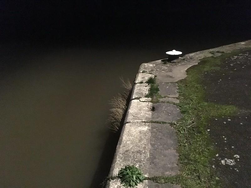 Night Avon, high tide