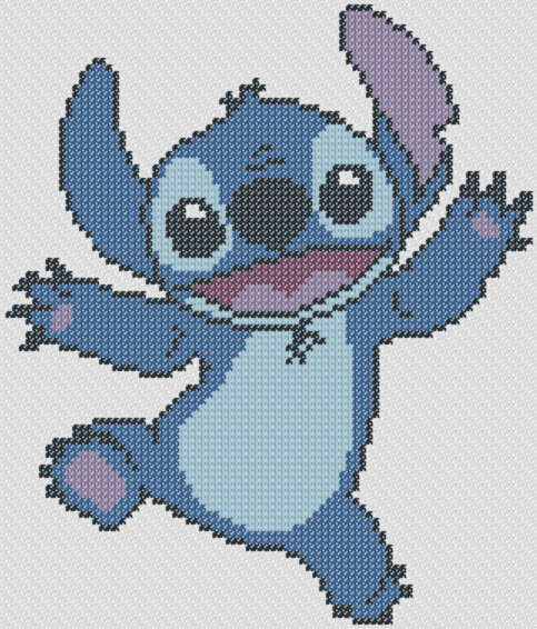 Preview of Lilo's Friend Stitch Cross Stitch Pattern
