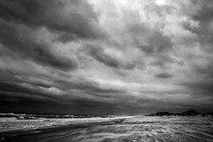 At The Beach In Monochrome