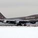Asiana Cargo B747-400F HL7420 departing a snowy FRA/EDDF
