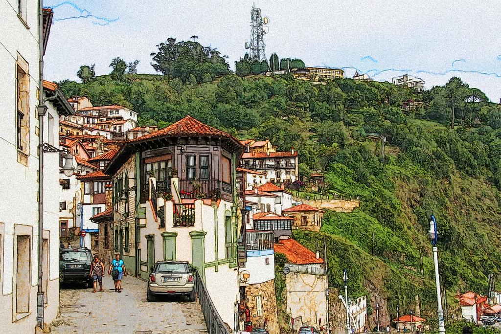calles de Lastres (Asturias)