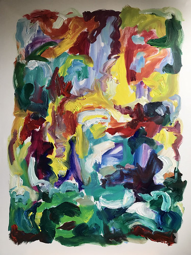 2018, Susan Marx, Color Waves, 48x36, acrylic on canvas