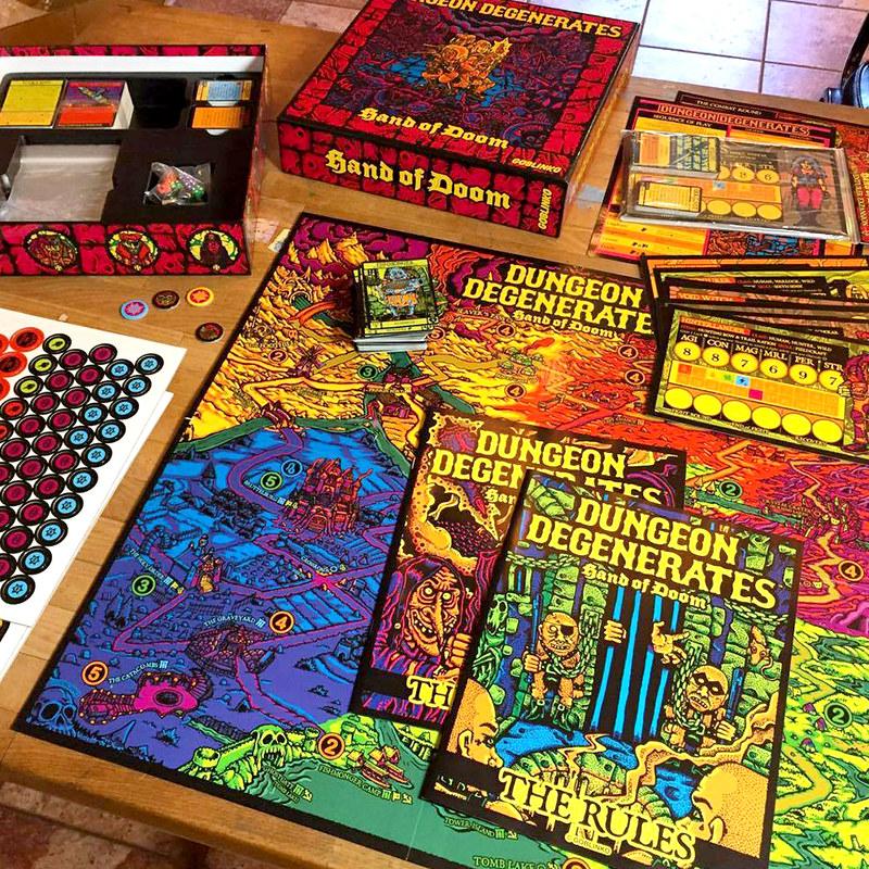 Sean Aaberg - Dungeon Degenerates - Game Pieces