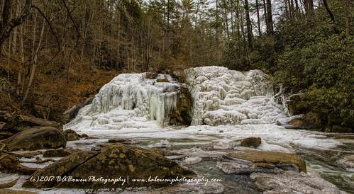waterfall cherokeenationalforest frozenwaterfall naturephotography babowenphotographytennesseeicewinterhikingturtletown creek falls