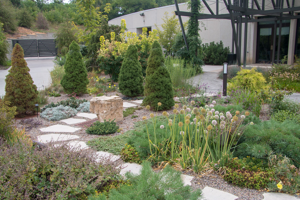 Outdoor botanical garden space
