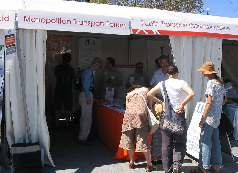 PTUA stall at Federation Square, February 2008