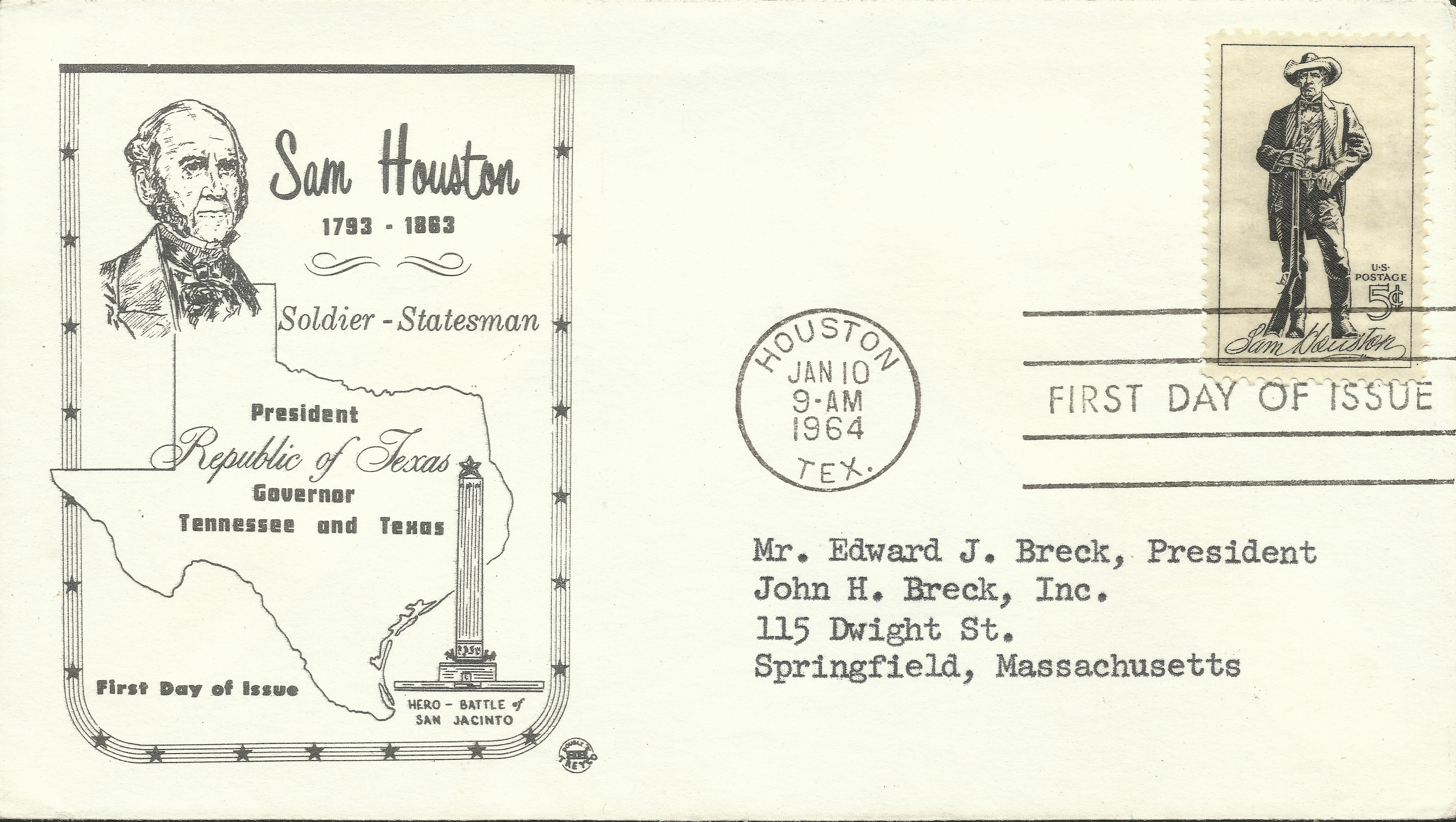 United States - Scott #1242 (1964) first day cover