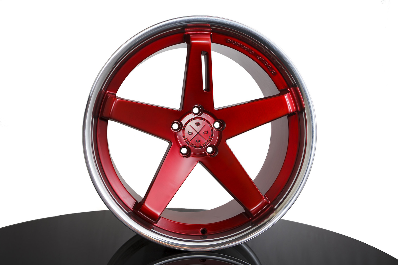 BD-21 Brushed Anodized Red Chrome SS Lip