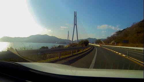 しまなみ海道 多々羅大橋 #リーフの車窓から