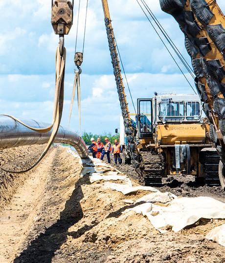 Прокладываение трубопровода