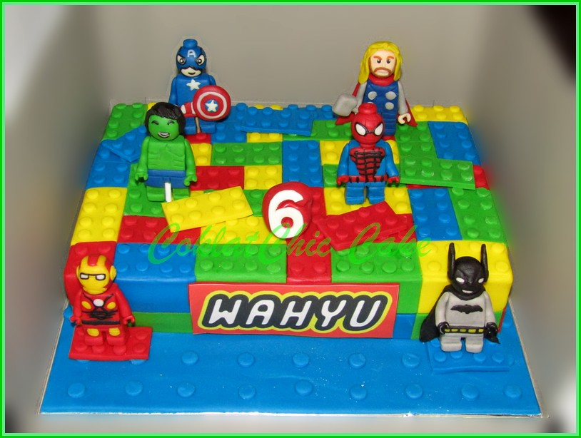 Cake Lego superhero WAHYU 18x27 cm