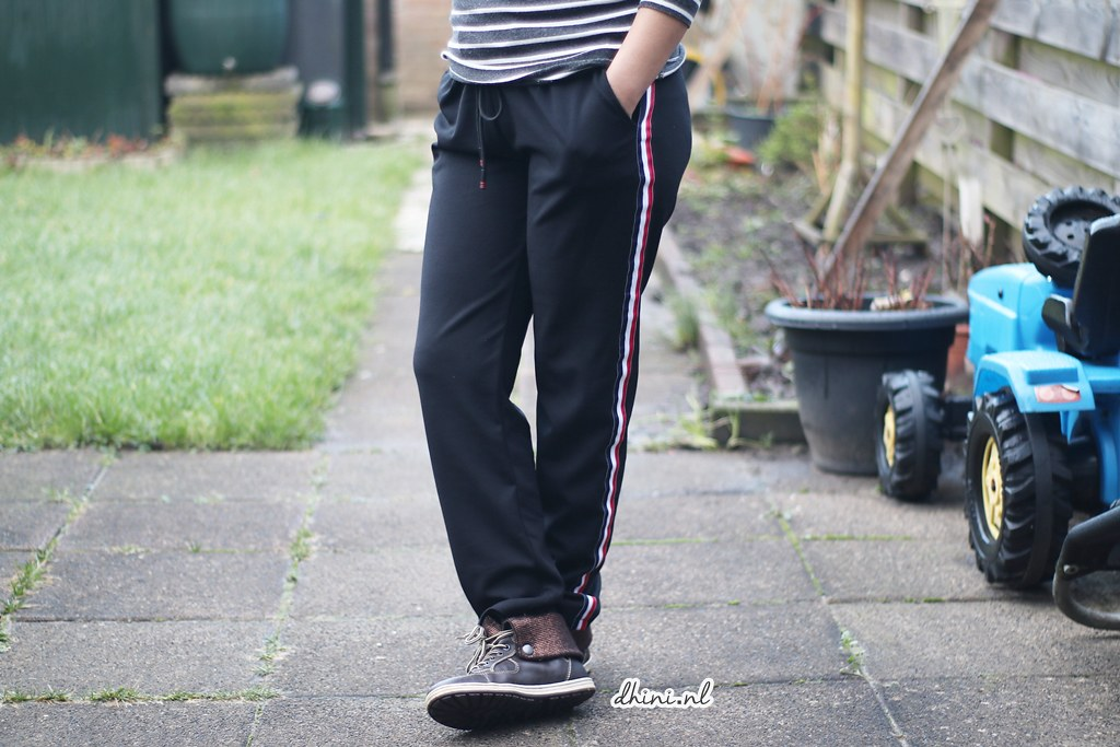 Black Striped Jogger